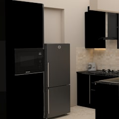 DLF Woodland Heights, 3 BHK - Mrs. Darakshan:  Built-in kitchens by DECOR DREAMS,Modern