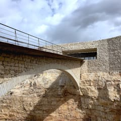 Masonry Bridge and Entrance:  Conference Centres by Khammash Architects