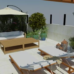 Roof terrace by Garnet Design de Interiores