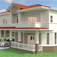 บ้านเดี่ยว 2ชั้น style country:  บ้านและที่อยู่อาศัย โดย mayartstyle,