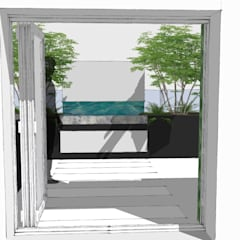 Kensington Park London:  Roof terrace by Aralia