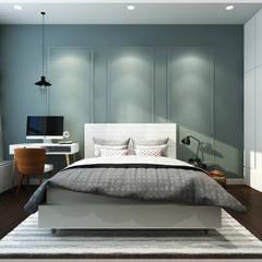 Dormitorios de estilo asiático por Công ty TNHH TMDV Decor KT
