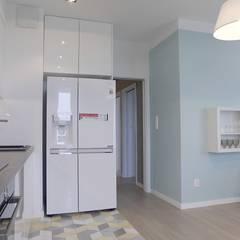Kolor na mieszkaniu Nowoczesna kuchnia od Perfect Space Nowoczesny