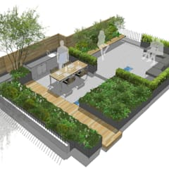 Creffield House London:  Roof terrace by Aralia