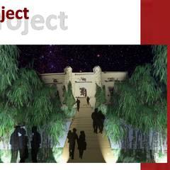 Un Wedding park tra mediterraneità e artificio ...: Sedi per eventi in stile  di Natura&Architettura