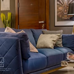 Mr.H.B. FLAT INTERIOR DESIGN ,MADINATY:  غرفة المعيشة تنفيذ RayDesigns