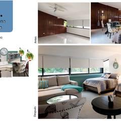 Habitación #3: Recámaras de estilo mediterraneo por Andrea Loya