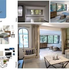 Habitación principal: Recámaras de estilo mediterraneo por Andrea Loya