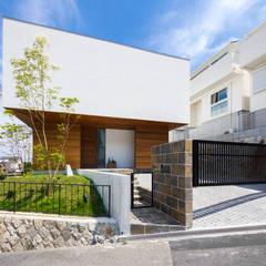 haus-flat 外観: 一級建築士事務所hausが手掛けた木造住宅です。