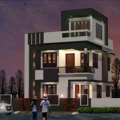 contemporary style villa in 2.8 cent:  Villas by shabin
