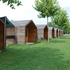 Wooden houses by Rusticasa, Industrial Wood Wood effect