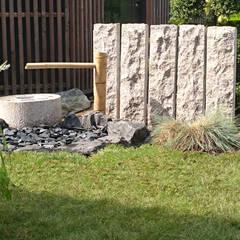 Tsukubai: Jardin de style  par JARDIN JAPONAIS, Asiatique Granite