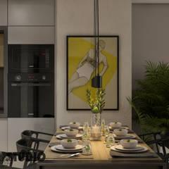 nowoczesna jadalnia: styl , w kategorii Jadalnia zaprojektowany przez MIKOŁAJSKAstudio