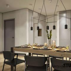 jadalnia w stylu skandynawskim: styl , w kategorii Jadalnia zaprojektowany przez MIKOŁAJSKAstudio