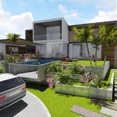 : Casas de estilo  por BIM STUDIO ARQUITECTOS SAC