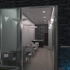 BAR CAFÉ: Espacios comerciales de estilo  por OMAR SEIJAS, ARQUITECTO