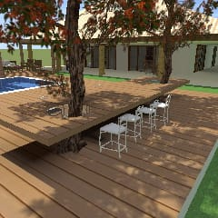 landscape من Ana Laura Architecture & Interior Design كلاسيكي خشب Wood effect