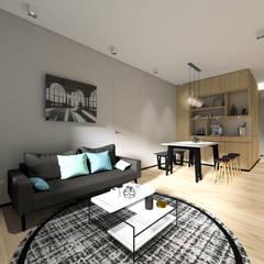 Sorrento Tower:  Living room by Artta Concept Studio, Modern