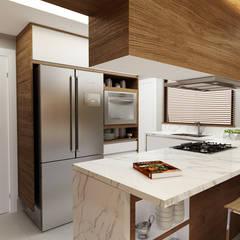 Cozinha Planejada: Armários e bancadas de cozinha  por Juliana Zanetti Arquitetura e Interiores
