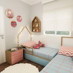 Quarto Infantil Montessori: Quartos das meninas  por Juliana Zanetti Arquitetura e Interiores