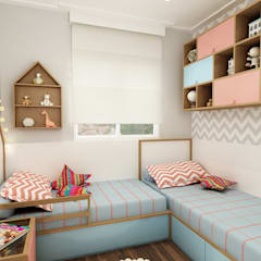 Cuarto para niñas de estilo  por Juliana Zanetti Arquitetura e Interiores