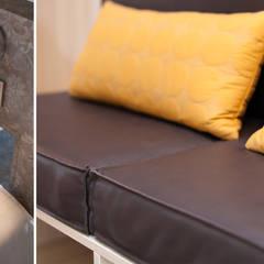 Detail lederen zitkussens:  Hotels door Inspiring Concepts