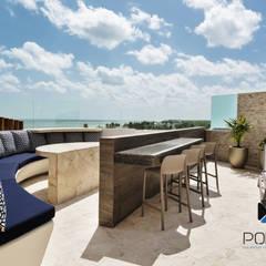 """""""PROYECTO CB36"""": Terrazas de estilo  por PORTO Arquitectura + Diseño de Interiores"""