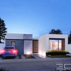 Residencia PC [León, Gto.]: Casas de estilo  por 3C Arquitectos S.A. de C.V.