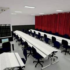 Ateliê de design de interiores UMESP Escolas modernas por Mariana Macedo Interiores Moderno