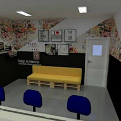 Ateliê de design de interiores UMESP: Escolas  por Mariana Macedo Interiores