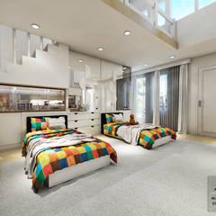 Kid's Bedroom Interior Design Kelapa Gading - Mediterania:  Kamar tidur anak laki-laki by Multiline Design