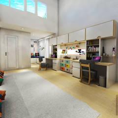 Kid's Bedroom Interior Design Kelapa Gading - Mediterania:  Kamar tidur anak by Multiline Design