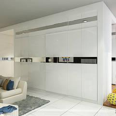 Master Bedroom Semarang - Bukit Wahid Regency: Ruang Ganti oleh Multiline Design,