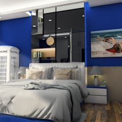 Final Design:  Kamar tidur anak laki-laki by Multiline Design