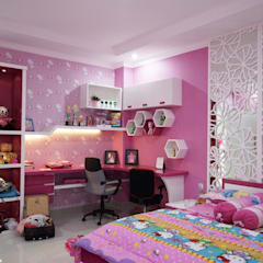 Girls Bedroom by Multiline Design, Minimalist