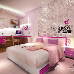 Girls Bedroom by Multiline Design