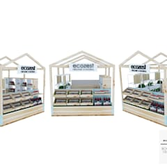 Booth Ecozest - Kemang Village:  Ruang Komersial by Multiline Design