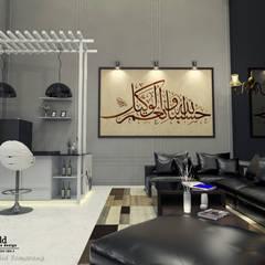 Living Room - Semarang: Ruang Keluarga oleh Multiline Design,