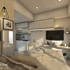 Studio Room - Capitol Apartment: Kamar Tidur oleh Multiline Design,
