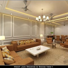 Residential Interior:  Corridor & hallway by UDC Interiors,Asian