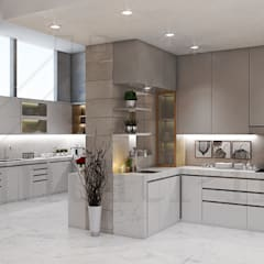 Kitchen - Selayar Pantai Indah Kapuk:  Dapur built in by Multiline Design