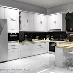Kitchen - Taman Palm:  Dapur built in by Multiline Design