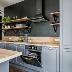 مطبخ تنفيذ KODO projekty i realizacje wnętrz, صناعي