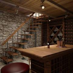 Bodegas de vino de estilo moderno por Spacelab Design