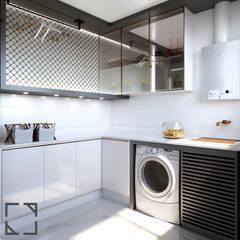 Lavanderia Moderna: Cozinhas embutidas  por Rau Duarte Arquitetura