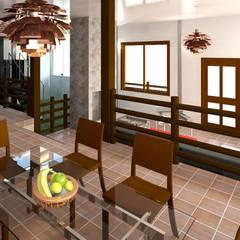vista desde el comedor : Comedores de estilo  por Diseño Store