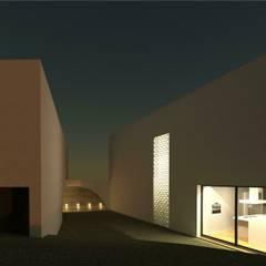 Moradia Unifamiliar Torres Novas Jardins de Inverno modernos por ARQUITECTOSRT Moderno