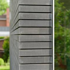 Fassadendetail:  Holzhaus von Sieckmann Walther Architekten