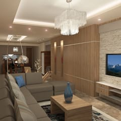 recepation area render 3 :  غرفة المعيشة تنفيذ Quattro designs