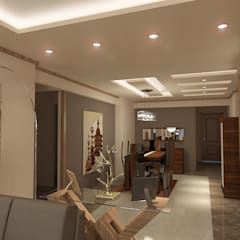 recepation area render 5 :  غرفة السفرة تنفيذ Quattro designs